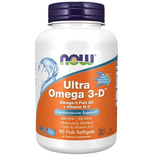 Ultra Omega 3-D By NOW, 90 Softgels