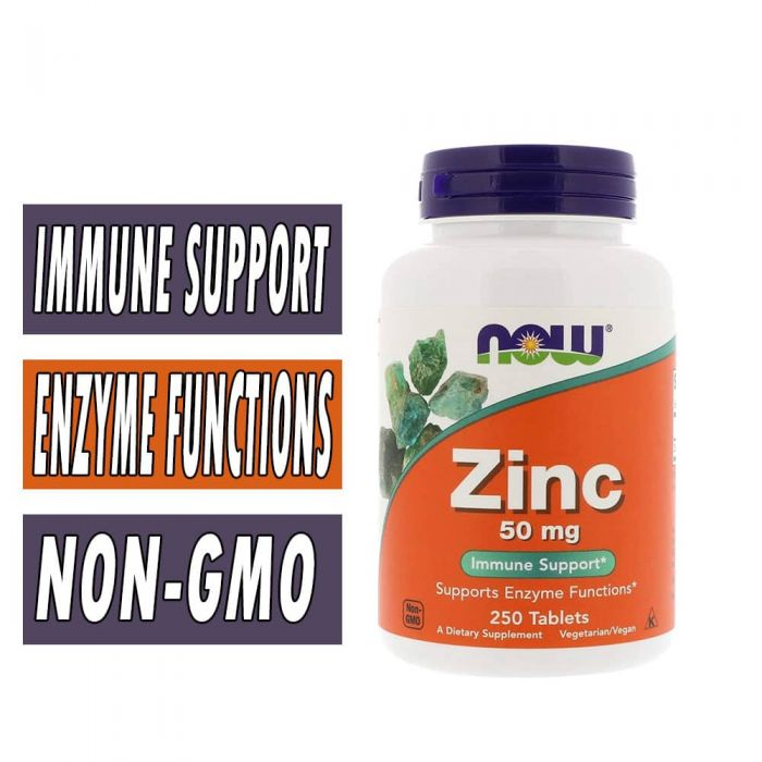 Zinc, By NOW Foods, 50 mg, 250 Tabs,