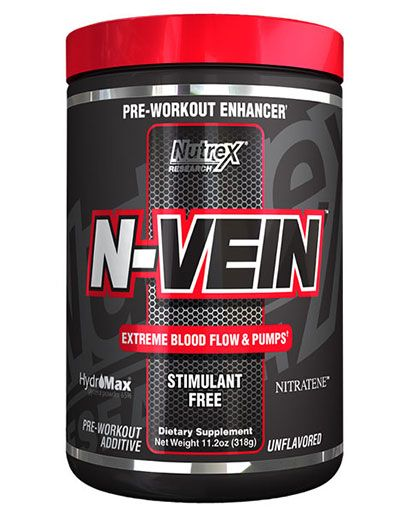 N-Vein, By Nutrex, Pre-Workout Enhancer, Unflavored, 30 Servings