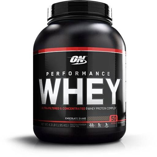 Performance Whey, Optimum Nutrition, Chocolate Protein, 50 Servings