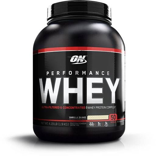 Performance Whey, Optimum Nutrition, Vanilla Protein, 50 Servings