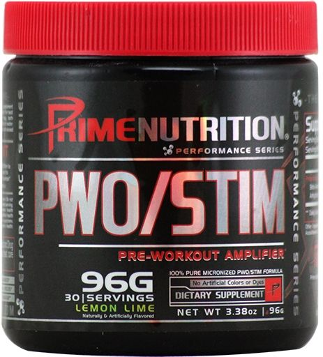 PWO/Stim By Prime Nutrition, Lemon Lime, 30 Servings