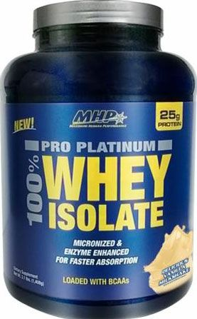 Pro Platinum Whey Isolate By MHP, Delicious Vanilla Milkshake, 44 Servings