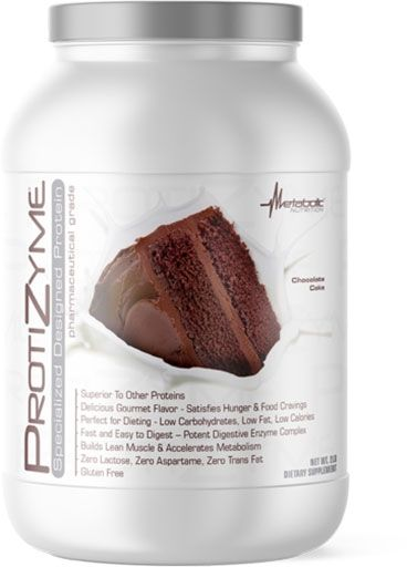 Protizyme, Metabolic Nutrition, Chocolate Cake, 2lb