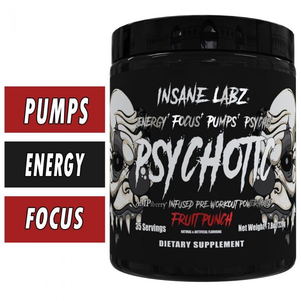 Insane Labz Psychotic Black - 35 Servings