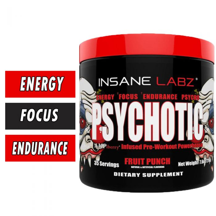 Insane Labz PSYCHOTIC Pre Workout 35 Servings