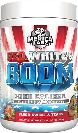 Red, White and Boom Pre Workout - Blood, Sweat and Tears (Watermelon) - 20 Servings