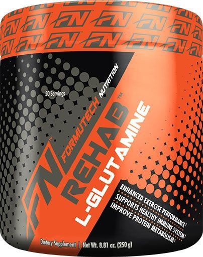 Rehab L-Glutamine By Formutech Nutrition, Unflavored, 250 Grams
