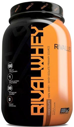 RIVAL Whey, Protein, By RIVALUS, Chocolate, 2lb,