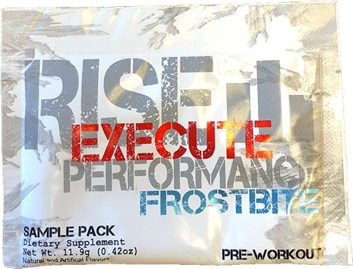 Rise Performance Execute Pre Workout, Frostbite, Sample Packet