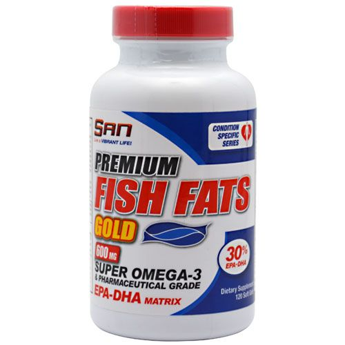 SAN Fish Fats Gold 600 Mg 120 Softgels