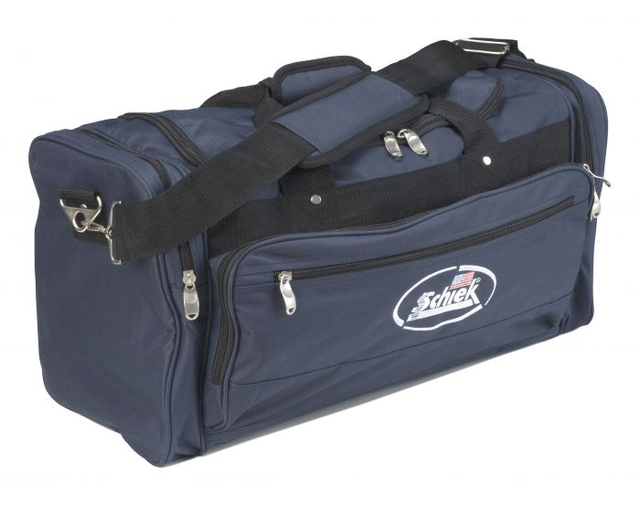 Schiek's Sports Deluxe Polyester Gym Bag Solid Navy Model SGB22 Gym Bag