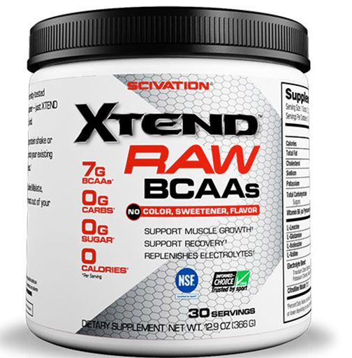Xtend Raw By Scivation, Unflavored 30 Servings Image