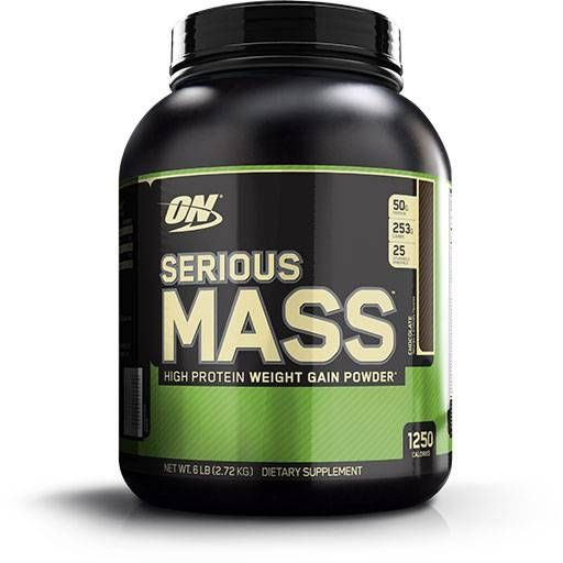 Serious Mass, Optimum Nutrition, Chocolate, 6Lb
