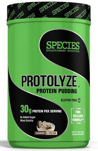 Protolyze, Protein Pudding, By Species Nutrition, Cookies and Cream, 14 Servings Image