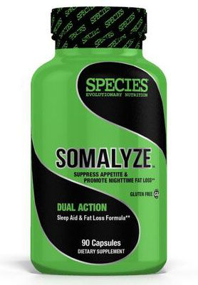 Somalyze, By Species Nutrition, Sleep Aid / Fat Burner, 90 Caps, Image