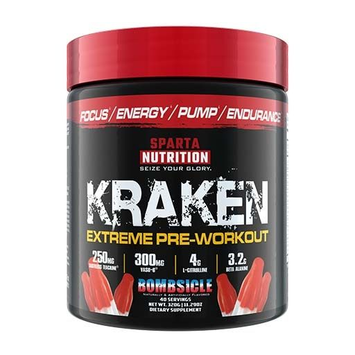 Kraken Pre Workout By Sparta Nutrition, Bombsicle, 40 Servings