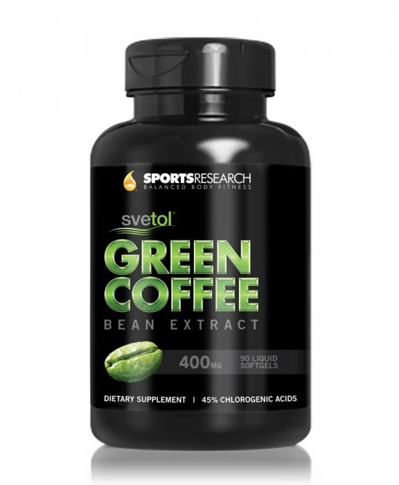 Sports Research Svetol Green Coffee Bean Extract 400 mg 90 Softgels