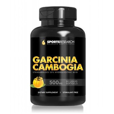 Sports Research Garcinia Cambogia 500 mg 90 Softgels