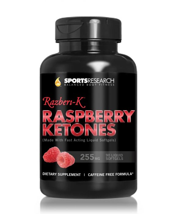 Sports Research Raspberry Ketones 255 mg 90 Softgels