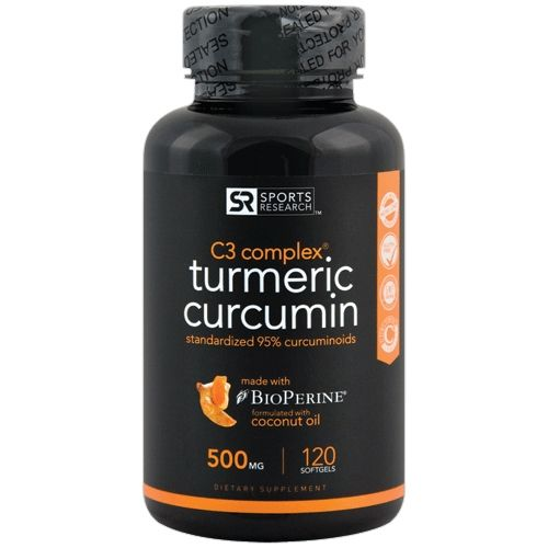 Sports Research Turmeric Curcumin C3 Complex 500 mg 120 Softgels