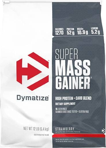 Super Mass Gainer, Dymatize Nutrition, Strawberry, 12lb