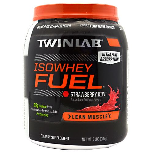 TwinLab Iso Whey Fuel Strawberry Kiwi 2lb