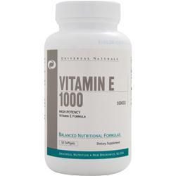 Universal Nutrition Vitamin E 1000 IU 50 Softgels