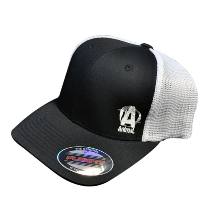 Universal Nutrition Animal Black & White Flexfit Cap