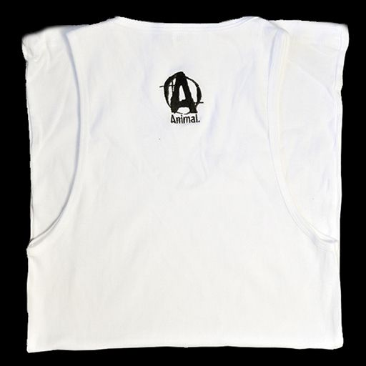 Universal Nutrition, White Animal Logo Tank, Large