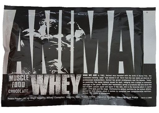 Animal Whey Protein By Universal Nutrition, Brownie Batter, Sample Packet