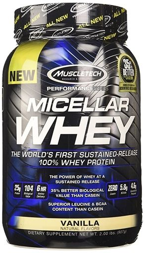 Micellar Whey Protein, By MuscleTech, Vanilla, 25 Servings,