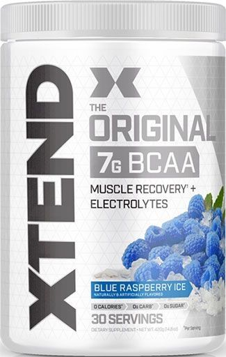 Xtend BCAA By Scivation, Blue Raspberry Ice, 30 Servings