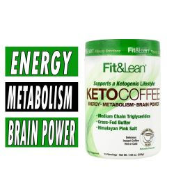 Fit and Lean Keto Coffee - Medium Roast Blend - 15 Servings
