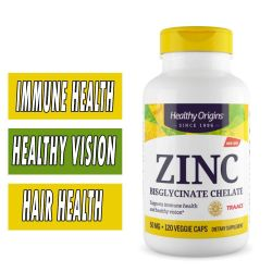 Healthy Origins Zinc Bisglycinate Chelate - 50 mg - 120 Vcaps