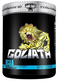 Goliath BCAA By Iron Addicts, Blue Raspberry, 30 Servings