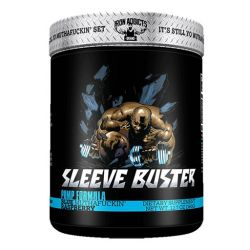 Sleeve Buster By Iron Addicts, Blue Raspberry, 30 Servings