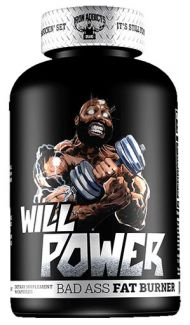 Will Power Fat Burner By Iron Addicts, 60 Caps