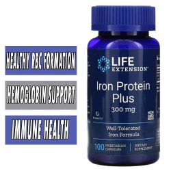 Life Extension Iron Protein Plus - 300 mg - 100 VCaps