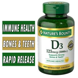 Natures Bounty D3 - 5000 IU - 400 Rapid Release Softgels
