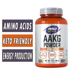 NOW AAKG (Powder and Tablets)
