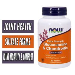 NOW Glucosamine and Chondroitin - Extra Strength - 60 Tablets