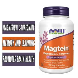 NOW Foods Magtein, 90 Veg Capsules