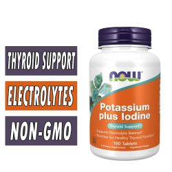 Potassium Plus Iodine, By NOW Foods, 180 Tabs
