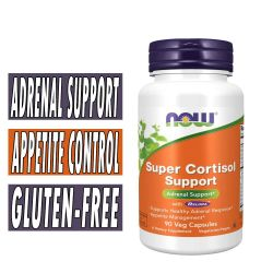 Super Cortisol Support with Relora By NOW, 90 Veg Caps