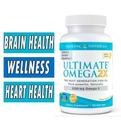 Nordic Naturals Ultimate Omega 2x - 60 Softgels
