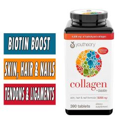 YouTheory Collagen Plus Biotin - 390 Tablets