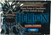 Hellion Pre Workout By Cloma Pharma, Razzberry Scream, Sample Packet