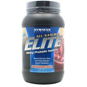 Elite Natural Whey, Dymatize Nutrition, Strawberry Shake, 2lb
