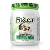 Fit and Lean Meal Replacement, Cookies and Cream, 1LB